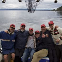 Freedom 55 Financial boys do the salmon derby!